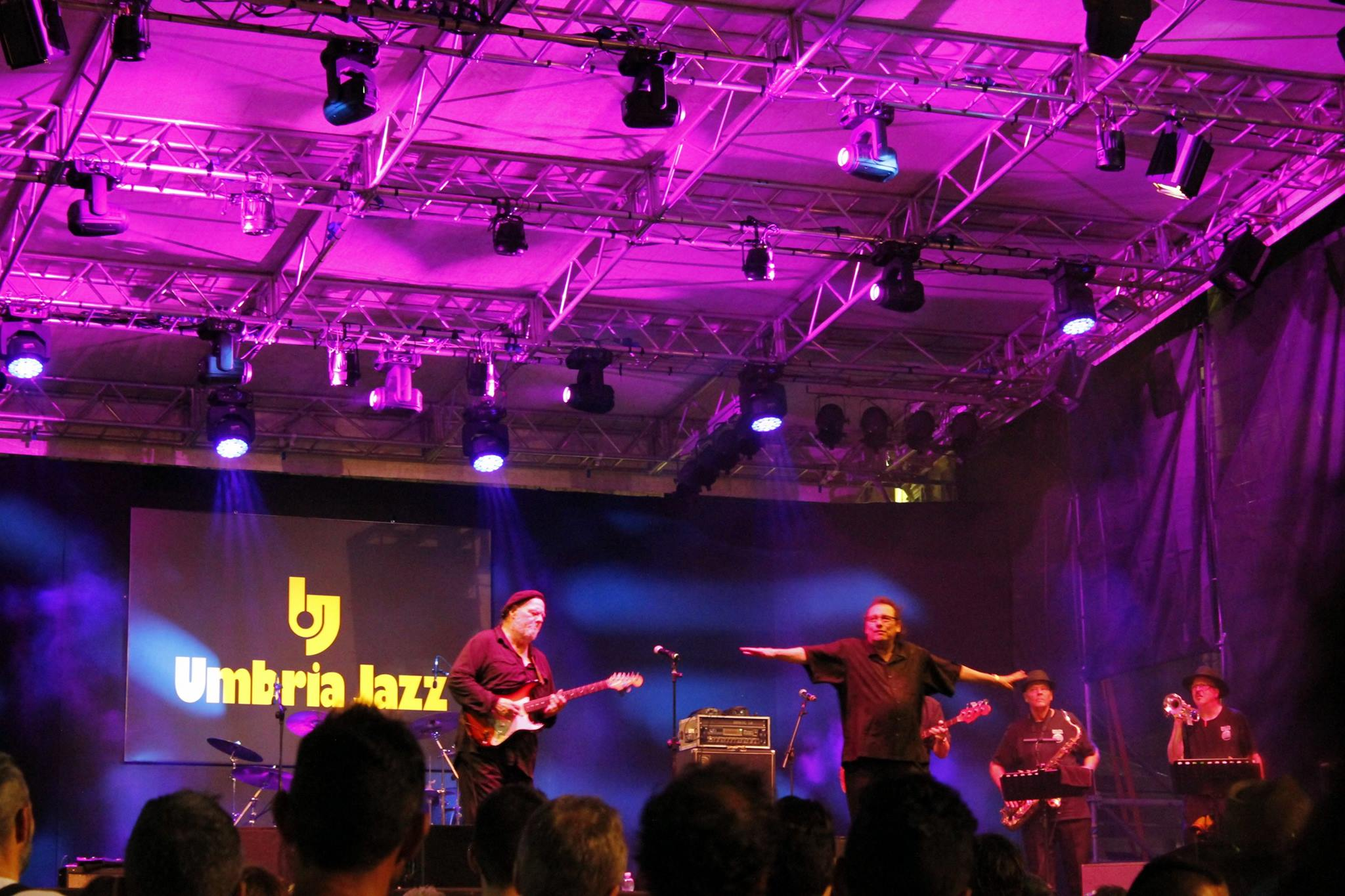 Artisti sul palco di Umbria Jazz